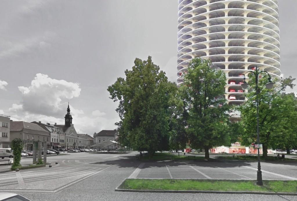 vizualizace: pohled z náměstí